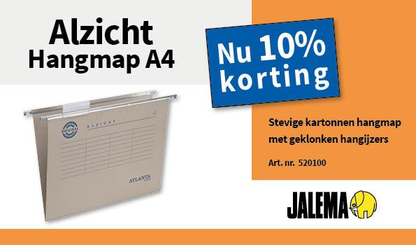 10% korting op de A4 hangmappen van Jalema