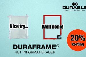 20% korting op A4 Durableframes