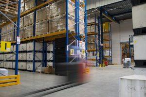 Opslag en logistiek van goederen