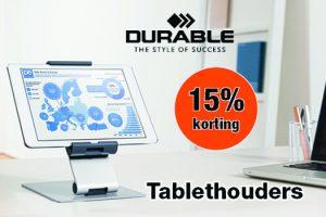 15% korting Durable tablethouders