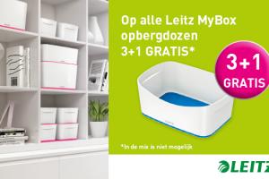 Leitz opbergboxen 3+1 gratis