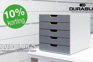 10 procent korting op Durable Varicolor ladenbox
